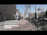 Amsterdam. The old town comes back to life. Relaxation of covid rules. april 2021.